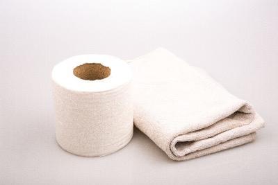トイレットペーパーとタオル