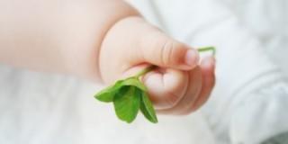 かわいい赤ちゃんの手